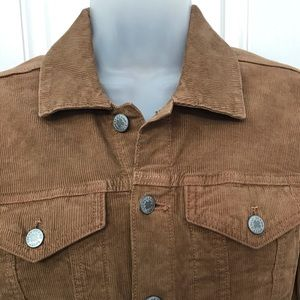 NEW wTag-LUCKY Brand Brown Corduroy Jacket Sz S